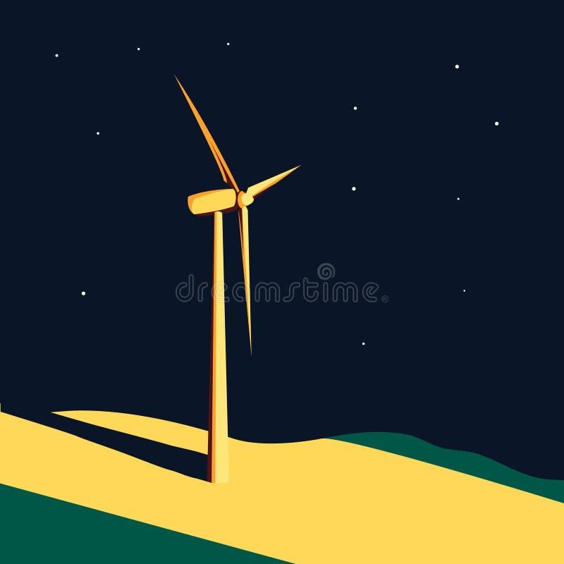 Fond de turbine de vent illustration stock