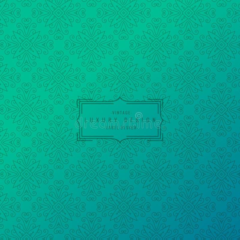 Fond de turquoise avec le modèle ornemental illustration stock