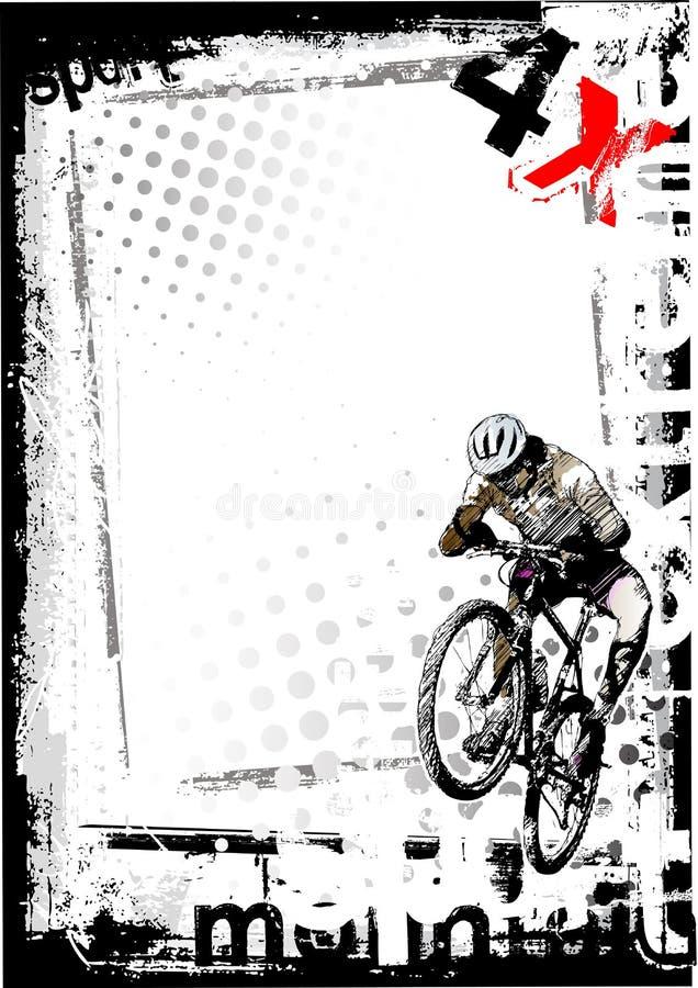 Fond de vélo de montagne illustration stock