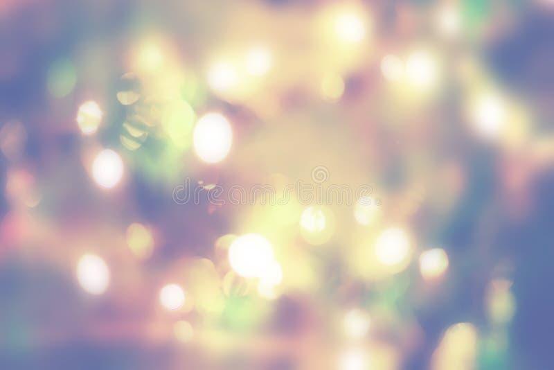 Fond de vacances avec des lumières de bokeh image libre de droits