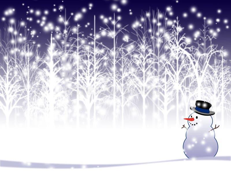 Fond de vacances d'hiver illustration stock