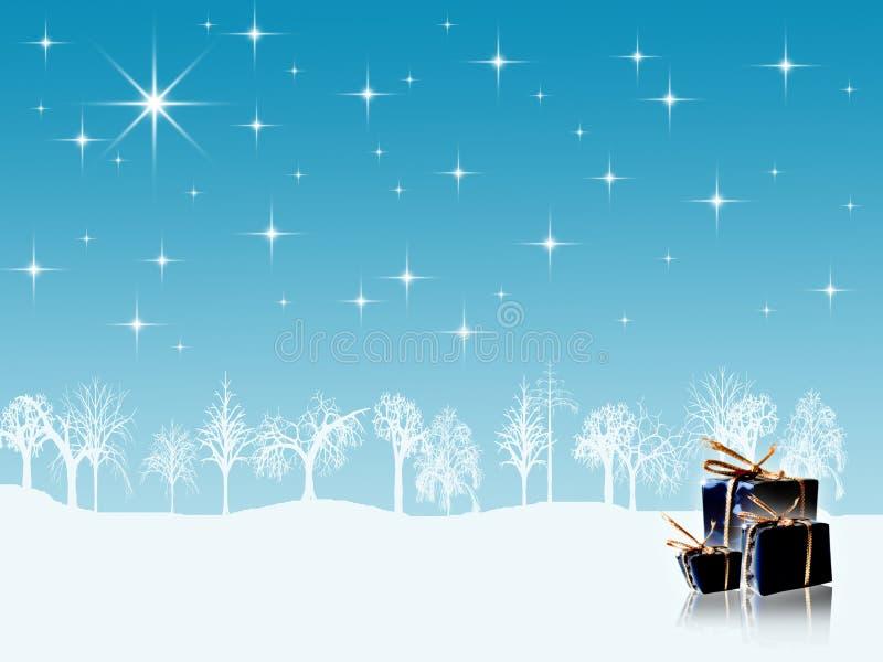 Fond de vacances d'hiver illustration libre de droits
