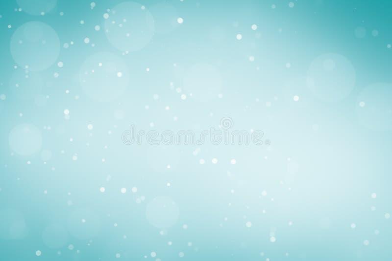 Fond de vacances d'hiver pour Noël argenté blanc bleu illustration de vecteur