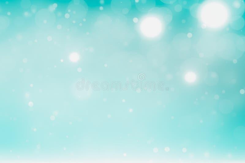 Fond de vacances d'hiver pour Noël argenté blanc bleu illustration libre de droits