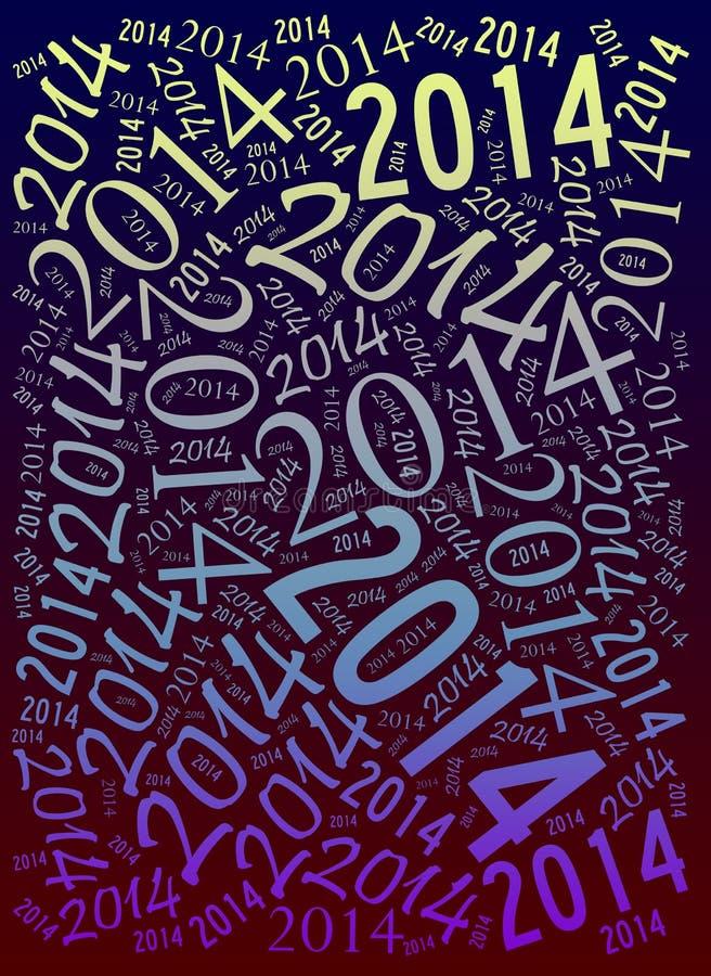 Fond de vacances de 2014 ans illustration libre de droits