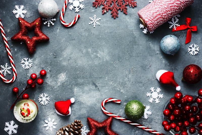 Fond de vacances de nouvelle année de Noël de Noël avec divers de fête photos libres de droits