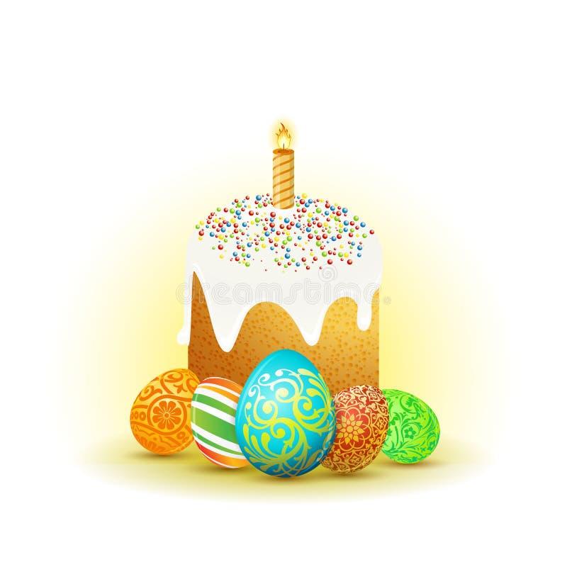Fond de vacances de Pâques illustration stock