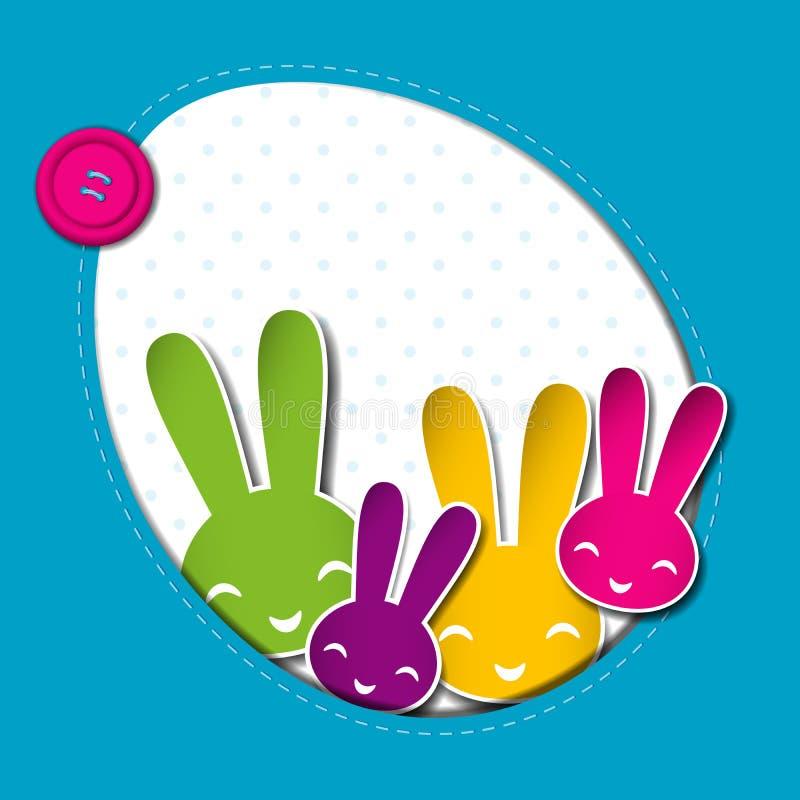 Fond de vacances de Pâques de printemps illustration libre de droits