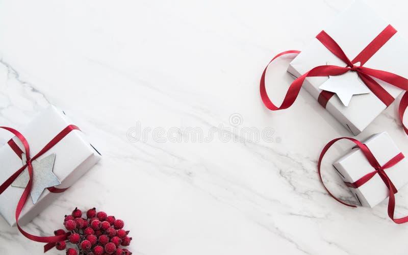 Fond de vacances de Noël et de nouvelle année Carte de voeux de Noël Vacances d'hiver photo libre de droits