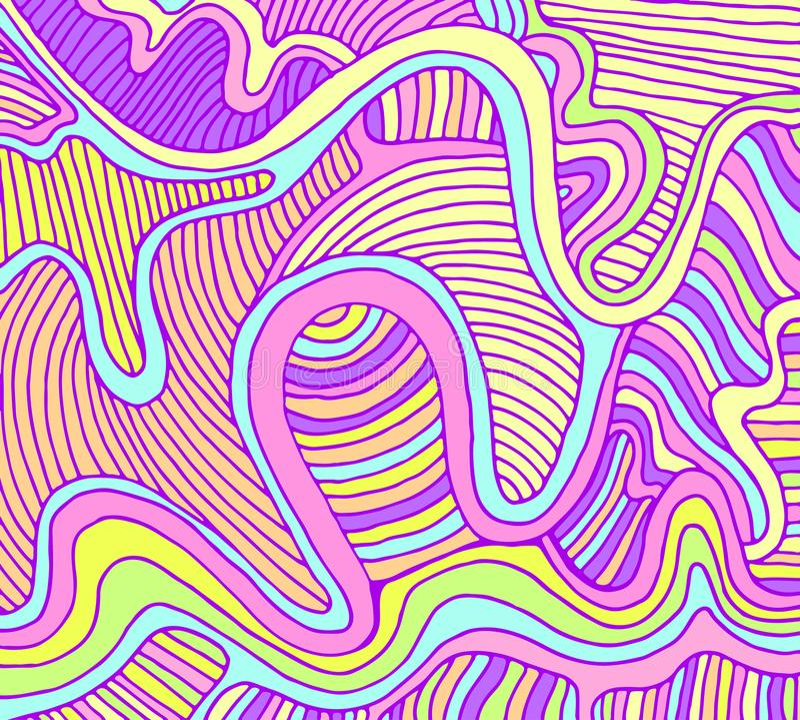 Fond de vague d'abrégé sur imagination, couleur en pastel illustration de vecteur