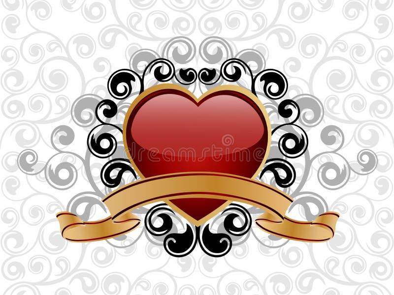 Fond de Valentine illustration de vecteur