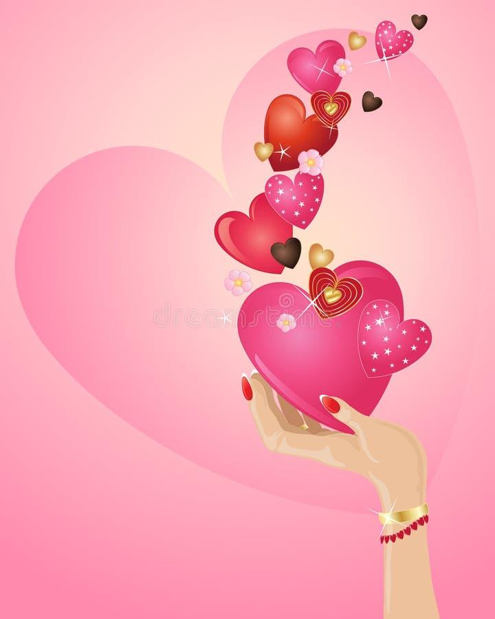 Fond de Valentine illustration stock