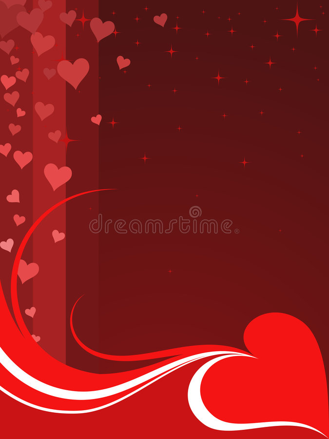 Fond de Valentine illustration stock