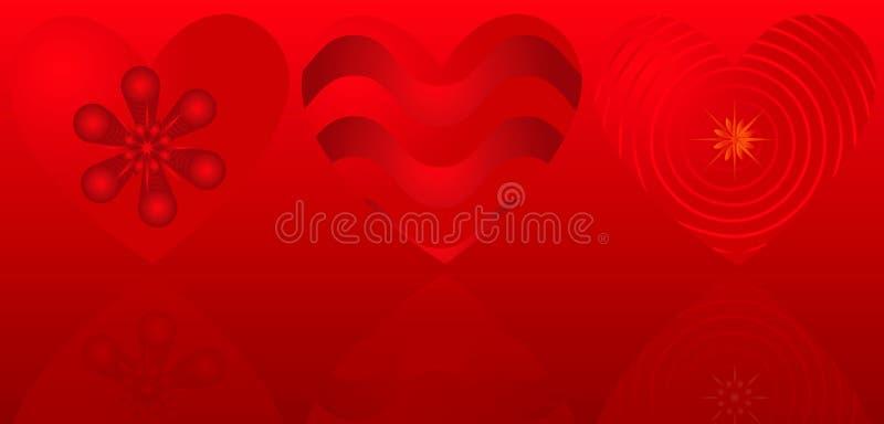 Fond de Valentine avec des coeurs illustration libre de droits
