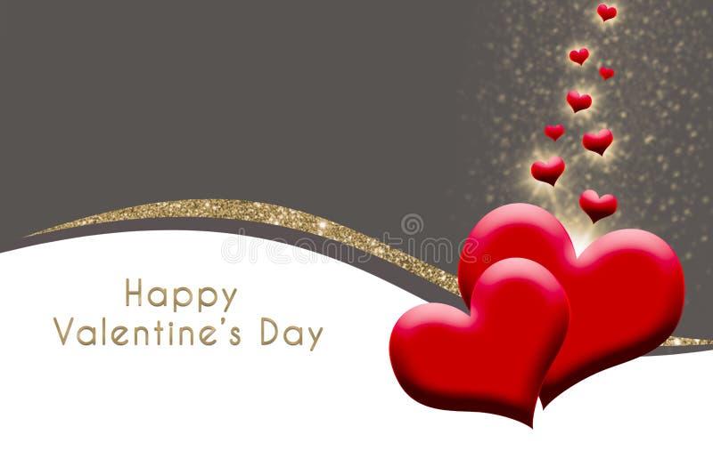 Fond de Valentine avec des coeurs pour le jour du ` s de valentine illustration libre de droits