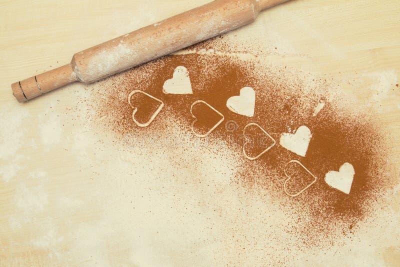 Fond de Valentine, carte de voeux Vue des coeurs Blanc de repas il photo stock