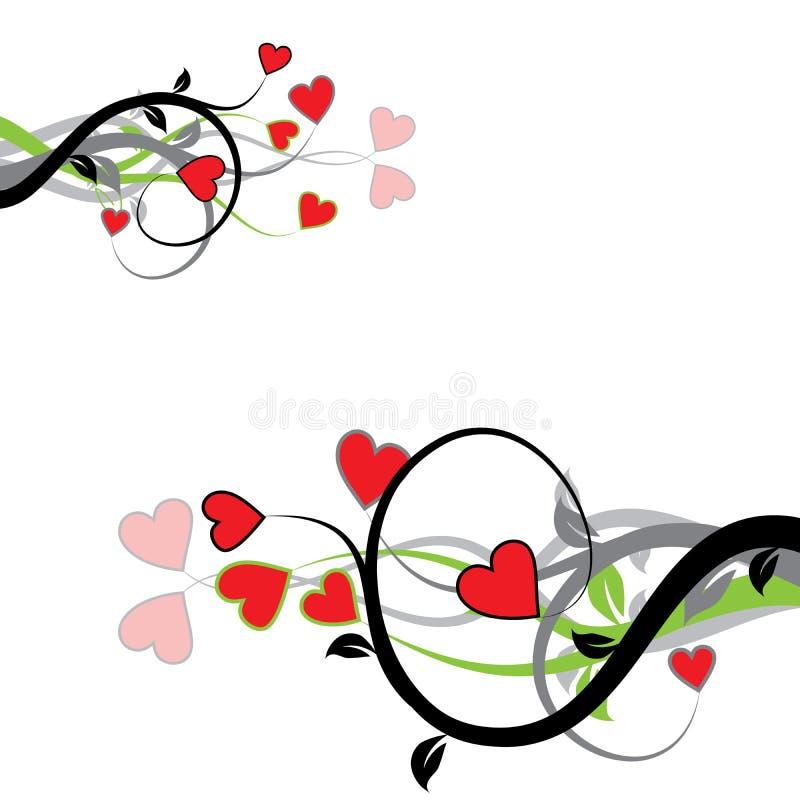 Fond de Valentine, vecteur illustration stock