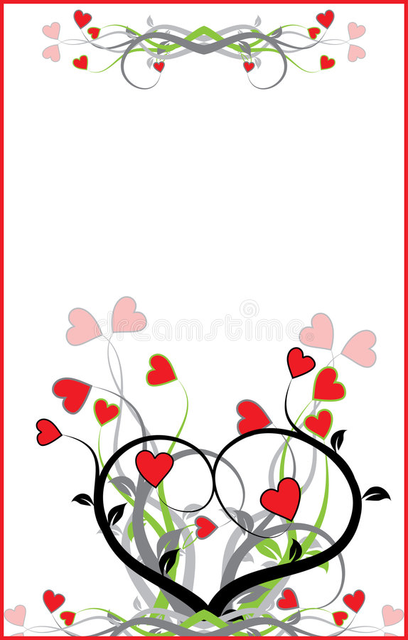Fond de Valentine, vecteur illustration libre de droits