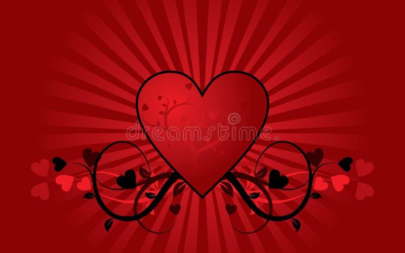Fond de Valentine, vecteur illustration de vecteur