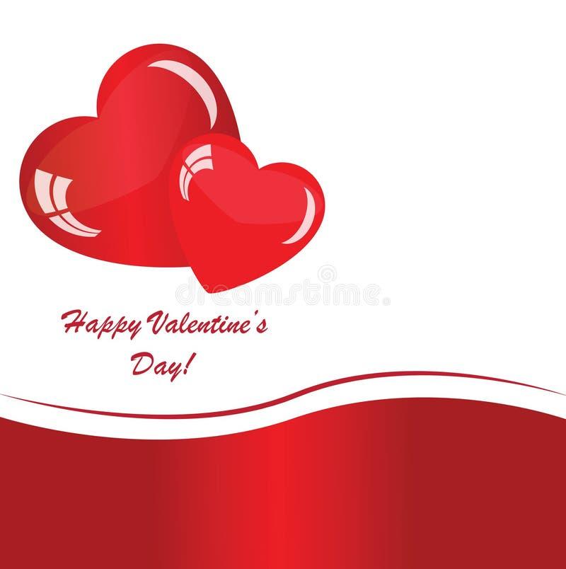 Fond de valentines avec deux coeurs illustration de vecteur