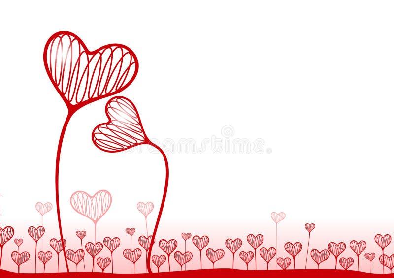 Fond de vecteur avec des coeurs illustration de vecteur