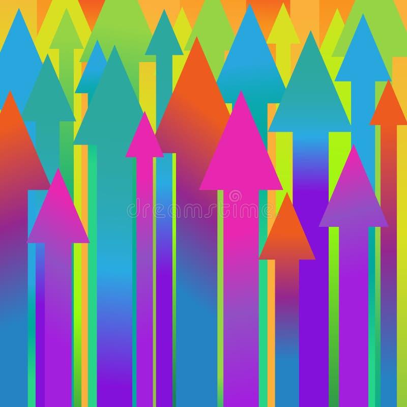 Fond de vecteur avec des flèches illustration de vecteur