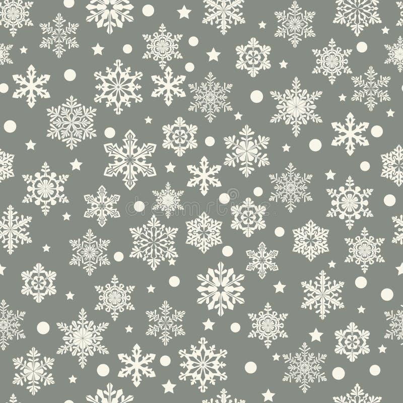 Fond de vecteur avec des flocons de neige l'hiver sans joint de configuration illustration libre de droits