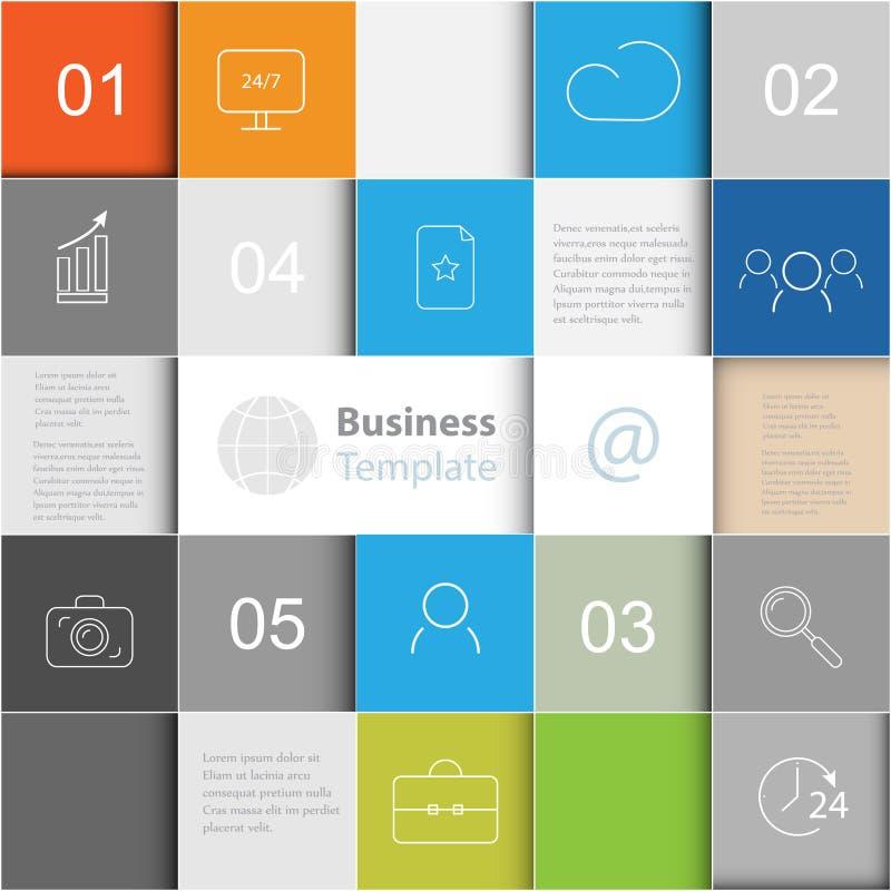 Fond de vecteur avec des grands dos Infographics de calibre d'affaires illustration libre de droits