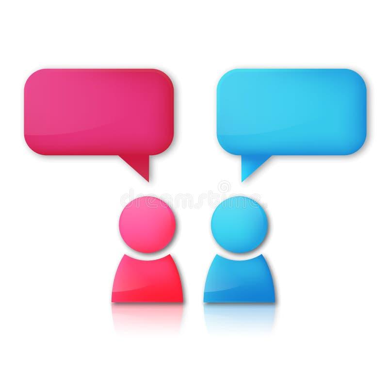 Fond de vecteur avec l'homme et la femme parlants illustration de vecteur