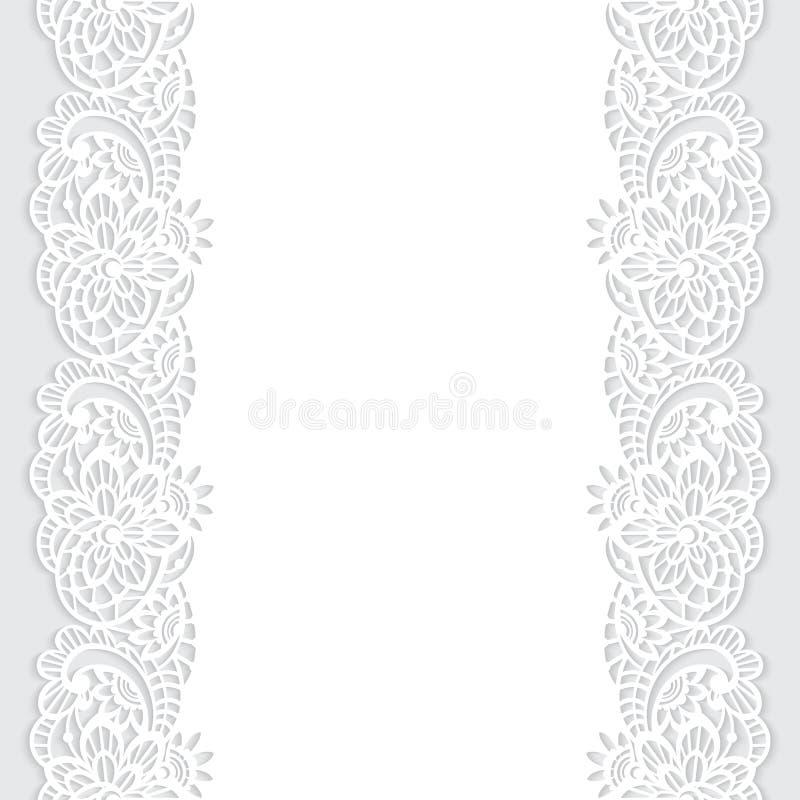 Fond de vecteur avec la dentelle florale illustration libre de droits