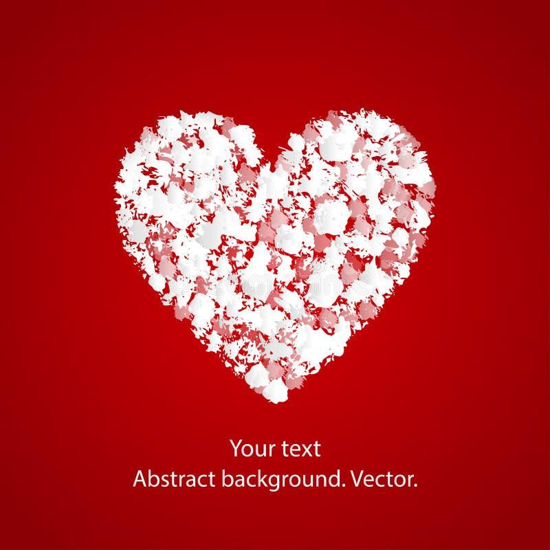 Fond de vecteur avec le coeur illustration libre de droits