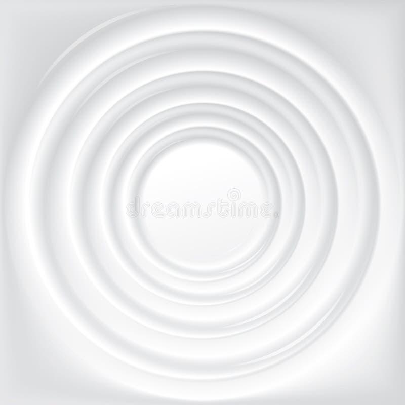 Fond de vecteur avec les cercles concentriques de l'eau illustration libre de droits