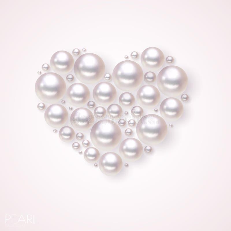 Fond de vecteur de coeur de perle illustration libre de droits