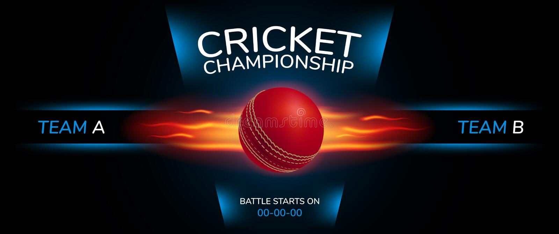 Fond de vecteur de cricket Bannière folâtre de style de conception illustration libre de droits