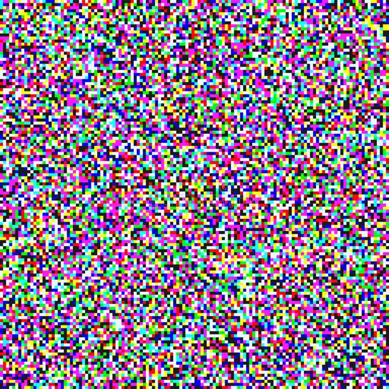 Fond de vecteur d'écran de grain de bruit de pixel de TV illustration stock