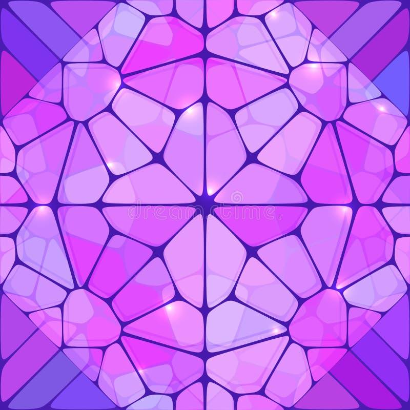 Fond de vecteur d'abrégé sur en verre souillé de violette illustration libre de droits