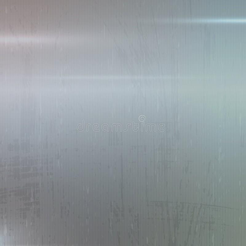 Fond de vecteur d'abrégé sur surface de texture en métal illustration libre de droits
