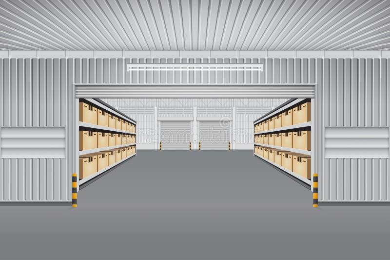 Fond de vecteur d'entrepôt illustration stock