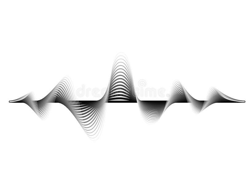 Fond de vecteur d'onde sonore E r r illustration stock