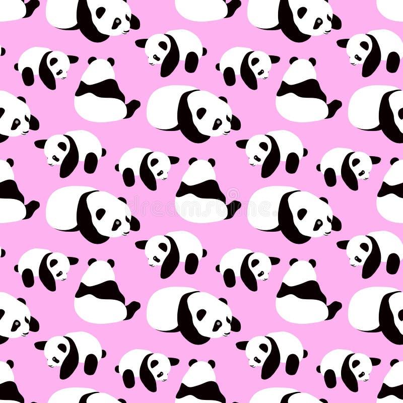 Fond de vecteur d'ours panda illustration stock