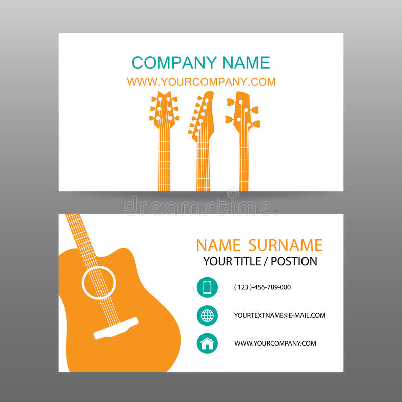 Fond de vecteur de carte de visite professionnelle de visite, musicien illustration libre de droits