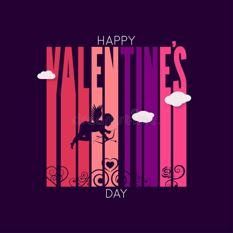 Fond de vecteur de conception de jour de valentines illustration libre de droits