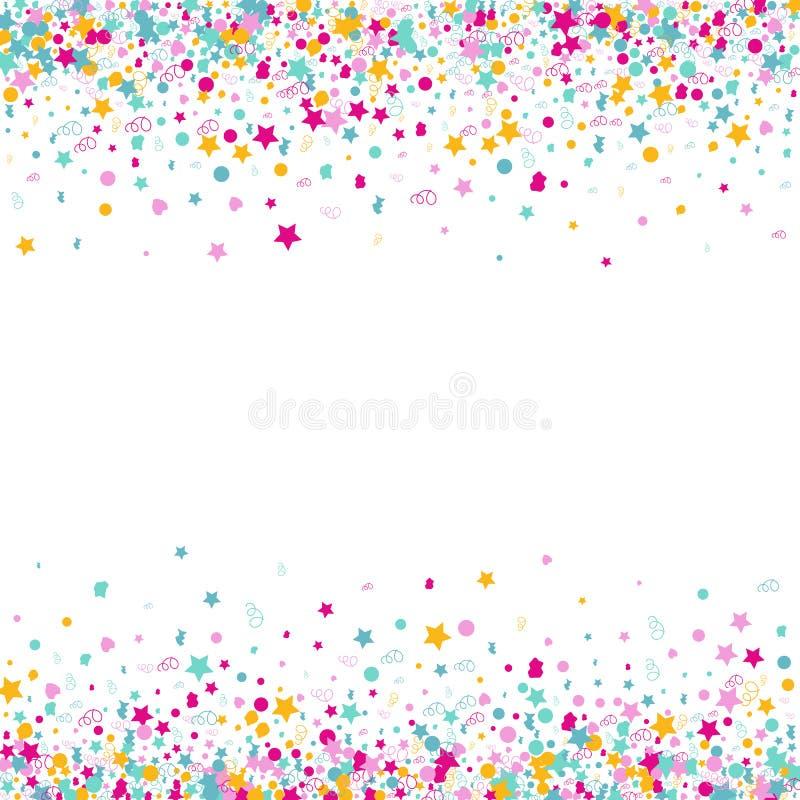 Fond de vecteur de confettis illustration stock
