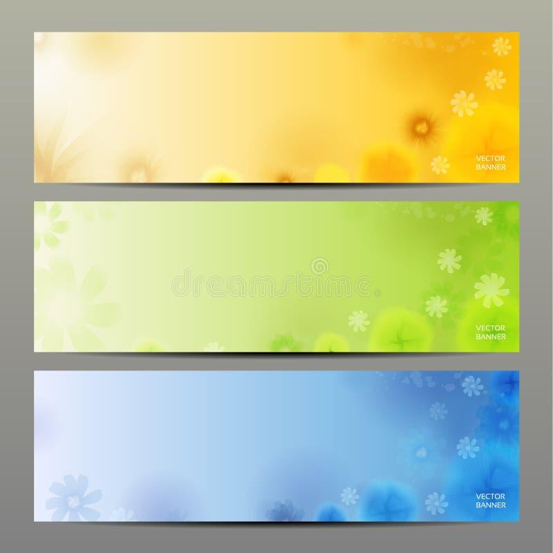 Fond de vecteur de fleur/calibre/bannière abstraits de brochure. illustration stock