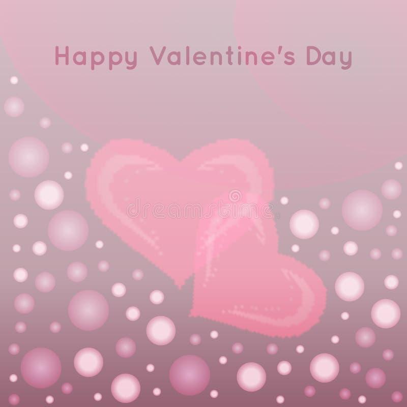 Fond de vecteur de jour de valentines avec le hea abstrait illustration de vecteur