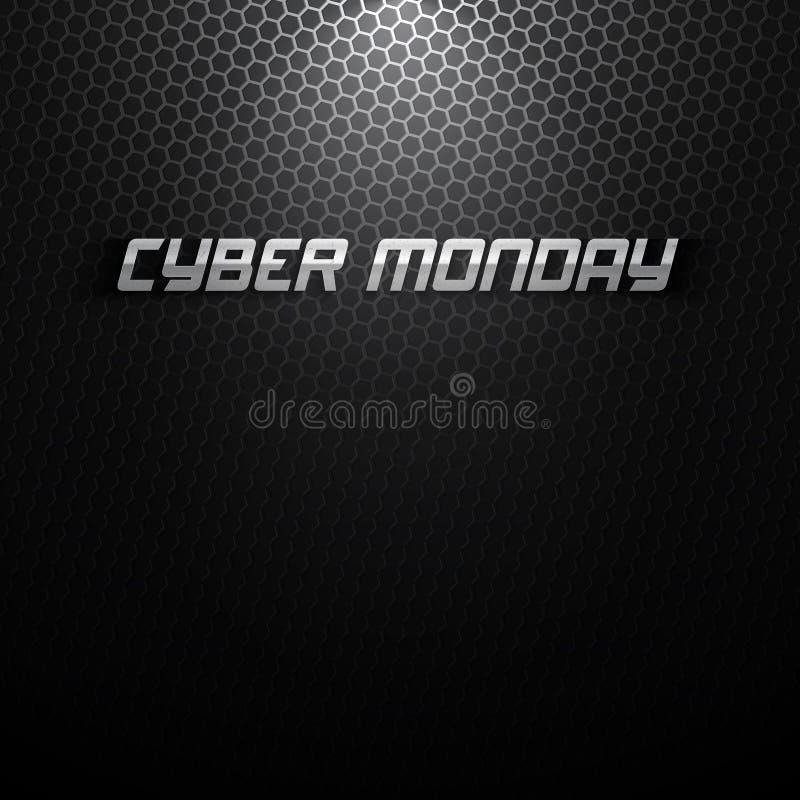 Fond de vecteur de lundi de Cyber illustration stock
