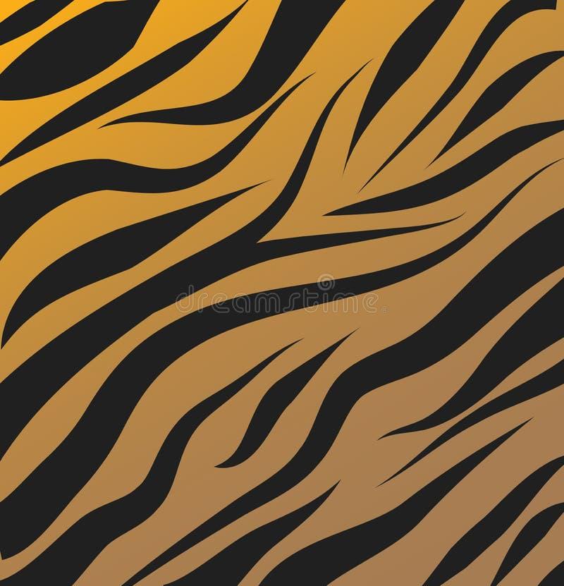 Fond de vecteur de modèle de tigre illustration stock