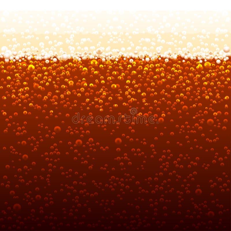 Fond de vecteur des bulles de kola bulles pétillant illustration stock