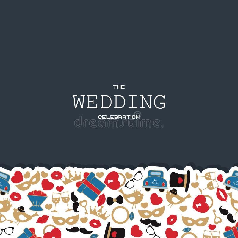 Fond de vecteur de mariage illustration stock