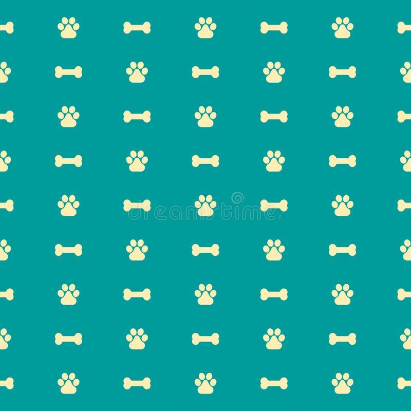 Fond 3 de vecteur de modèle d'os de chien illustration de vecteur